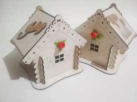 Caja de regalos, personalizable, modelo casa