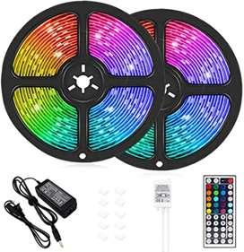 Cinta Led Multicolor Rgb Luz 10 metros + Control + Adaptador
