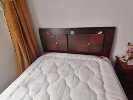 Vendo cama doble, perfecto estado, colchón altura 35 centímetros, no hago cambios, negociable