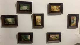 7 cuadros oleo sobre lienzo