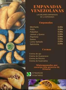 Empanadas Venezolanas ( Miniempanadas por encarga y pasapalos)
