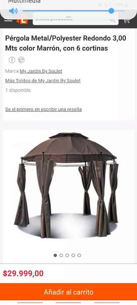Pergola estructura sola de hierro