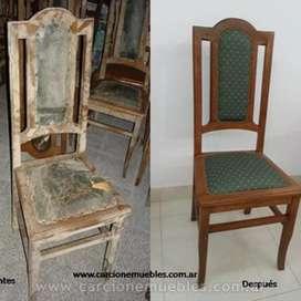 Realizó restauraciones de muebles y aberturas