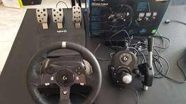 Volante Logitech G920 + pedalera + caja de cambio + freno de mano