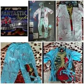 Excelente Disfraz de Medico Zombie M