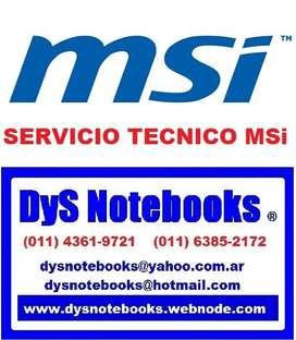 MSi SERVICIO TECNICO NOTEBOOK NETBOOK LAPTOP