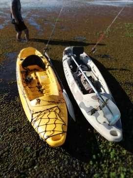 2 kayaks rocker one con remos