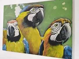 Pinturas al Óleo y dibujos a $290 x cm2 + antigüedad. Registradas DNDA. Reproducciones a $140 x cm2.