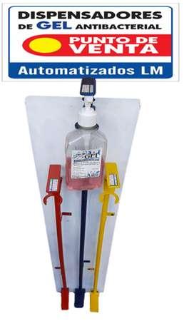 Dispensador con pedal para gel o jabon fijacion a pared