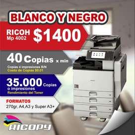 Copiadora Impresora Ricoh Mp 4002 BN