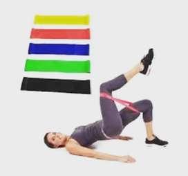 Bandas de resistencia para hacer ejercicios.