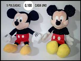 Peluches Disney, Mickey Mouse, Oso Baloo, Monster Inc, Sullyvan, Roger Rabbitt, Perry, Baymax, Alicia, Igor, Dory, Eva.
