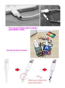 Protector cables USB, personalizalos y protejelos, variados motivos,