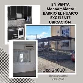 Alfa Inmobiliaria VENDE MONOAMBIENTE EN BARRIO EL HUAICO