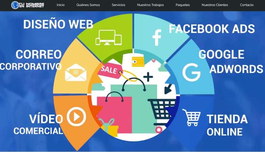 Páginas web profesionales con hosting, dominio, correos corporativos, certificado de seguridad SSL. 0