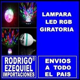 LAMPARA GIRATORIA RGB 220 V NUEVA IMPORTADA TRICOLOR