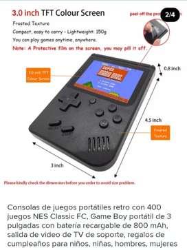 Mini consola de juegos retro