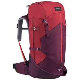 Morral trekking Montaña Mujer 50L Rojo