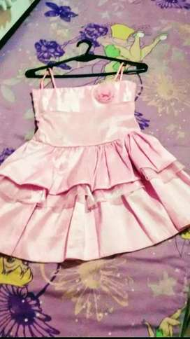 Vestido de Nenas rosa Talle 10 de Fiesta