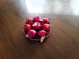 16 Manzanas Y 16 Peras Navideñas (no Incluye Arbolito)