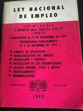 Ley nacional de empleo  n° 24013