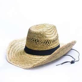Sombrero Paja Panama Indiana Vaquero Rustico Llanero Vintage