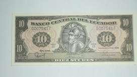 Colección Billete 10 Sucres