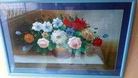 Vendo o Cambio cuadro de flores enmarcado. (Recibo articulo de mi interés )