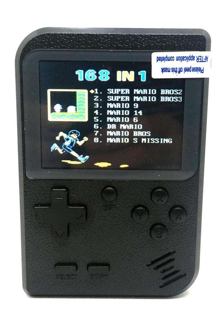 Video juego Poly Tipo GameBoy portable con 168 juegos 8 Bits 0