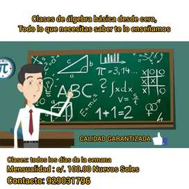 Álgebra básica desde cero