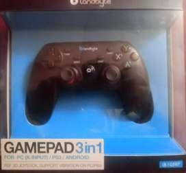 Gamepad original Landbyte 3 en 1 , para pc, ps3 y celular... Incluye adaptador para todo