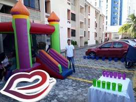Trampolin e inflable para eventos infantiles y corporativos