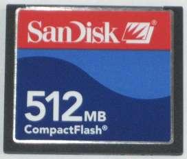 Tarjeta Memoria Compact Flash Sandisk 512mb Original