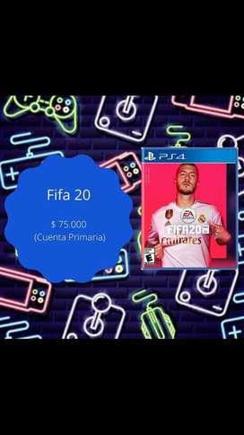 Juego de FIFA2020 ps4