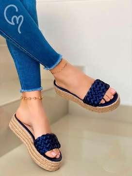Sandalias plataformas para dama