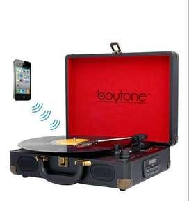 Tocadiscos Bluetooth Radio Fm Usb Mp3 Sd Vinilo Acetato