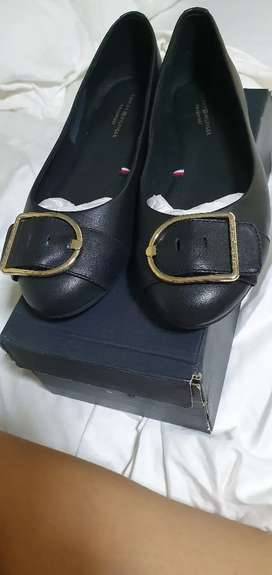 Zapatos tommy negros mujer talla 8