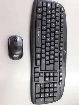 Teclado inalambrico y mouse