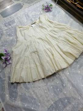 Falda artesanal 100% algodón Indu