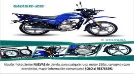 Alquiler de motos NUEVAS