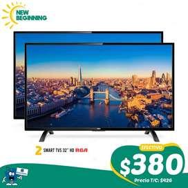 """2 Smart TVs RCA 32"""" HD  La mejor marca. RCA. Americana"""