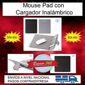 Mouse Pad con Cargador Inalámbrico