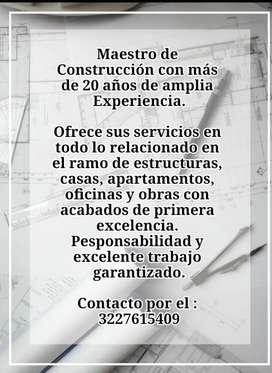 Maestro de Obra y Construccion Ofrece sus servicios