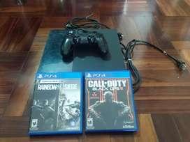 Playstation 4 (PS4) 500Gb + Control DualShock + 2 Juegos
