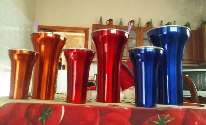 Vaso aluminio de color 0