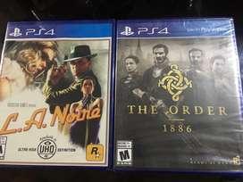 The Order 1886 Y L.A. Noire Ps4 Nuevos