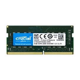 Memoria Ram Crucial Ddr4 De 8gb 2666 Mhz Para Portatil