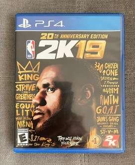 NBA 2k19 20TH Anniversary Edition (Lebron James) para PS4