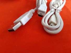 Cable Mini USB de carga USB a mini USB blanco o negro