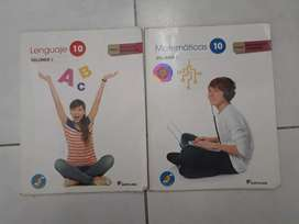 Libros Santillana- Matemáticas y Español 10